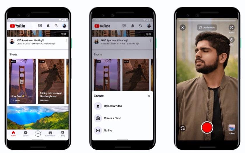 videos curtos youtube shorts brasil app